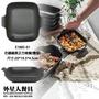 仿鑄鐵黑正方烤盤(彎身)(20*19.5*4.5cm)