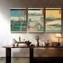 日式和風布藝掛畫12節氣畫裝飾畫掛毯掛旗布掛布壁飾壁掛料理店