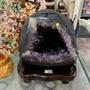 頂級烏拉圭🇺🇾紫水晶洞 6A+✨7.57kg❤️異象晶洞共生二色瑪瑙邊✅權威貴族象徵👑「紫晶花🌸」圓洞正土型💯