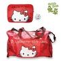 Hello Kitty 摺疊旅行袋 凱蒂貓 兩用 摺疊 行李袋 旅行袋 肩背包 超大容量  Hello Kitty 三麗鷗