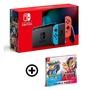 任天堂 Switch 紅藍主機(電池加強版)+寶可夢劍、盾中文同捆包【再送搖桿蘑菇帽、保護貼】