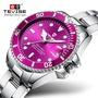 瑞士tevise特威斯T801L石英女款 鋼帶款 夜光表 全自動石英表手錶 防水日曆 情侶手錶女士表 生日禮物 節日禮品
