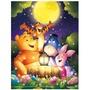 日本進口迪士尼迷你拼圖300片 小熊維尼月光派對 (夜光效果)