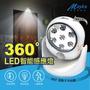 【Mayka】LEDx7顆紅外線自動感應燈-1入(感應燈)