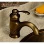 美式復古全銅拉絲冷熱水龍頭 歐式仿古青古銅色洗手臉面盆龍頭