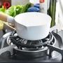 【日本珍珠金屬】瓦斯爐縮口鑄鐵輔助爐架-直徑14cm-小型鍋壺專用(五德 子母爐架 小湯鍋 摩卡壺)
