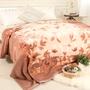 米夢家居-鳴球100%澳洲美麗諾拉舍爾 純羊毛毯(200*230CM)-山戀茶花