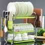 三層廚房置物架兩層瀝水碗碟架放碗筷瀝水架碗架收納架子碗盤用品