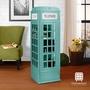 漢妮Hampton英國風電話亭置物櫃-藍
