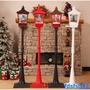 聖誕裝飾品 新款飄雪風車音樂路燈街燈 商場酒店超市學校客廳擺件'現貨