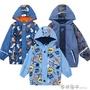 兒童中小童男童防水防風防寒雨衣戶外滑雪加絨沖鋒衣外套 西城故事