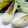 蕾絲簍空雕花防水透氣平底鞋娃娃鞋懶人鞋包鞋媽媽鞋雨鞋