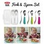 【iShop限時特價】美國直購 OXO tot嬰兒學習用湯匙/叉子組