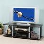 《Homelike》120cm電視系統架 電視櫃 音響架 置物架 收納架 (胡桃色)