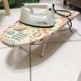 手持式蒸氣熨斗+桌上型棉布燙衣板(燙馬 熨馬 燙衣墊 熨衣板 桌上型燙衣板 折疊熨斗板)