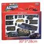 U9TOY 軍事 戰爭 玩具 坦克車 直昇機塑膠  拖車頭為合金後面是塑膠 部份車身是合金