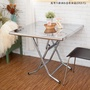 萬用不鏽鋼折疊收納桌(3X3尺)【JL精品工坊】餐桌 休閒桌 拜拜桌 白鐵桌
