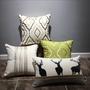 抱枕 刺繡棉麻美式靠墊套歐式奢華樣板房抱枕麋鹿米綠簡約北歐抱枕 六六
