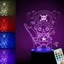 3D造型LED小夜燈 最新七彩遙控喬巴3D造型LED小夜燈 創意禮物