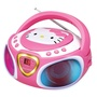 Hello Kitty Portable Stereo CD Boombox with AM/FM Radio, Speaker and LED Light Show plus iPad/MP3 Au