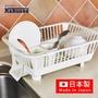 【日本Kakusee料理道具】日製導水式碗盤晾置籃-橫放式(免組裝/瀝水架/碗盤架/收納架/置物籃/廚房收納)