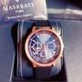 Maserati 瑪莎拉蒂 三眼光動能錶