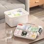 家用手提醫藥箱多格層急救藥箱多功能塑料收納箱醫院藥房贈品批發