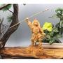 新品崖柏精雕神像中壇元帥哪吒三太子實木木雕工藝品擺件太子爺