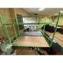小圓管雙層鐵床 3尺(綠)宿舍上下舖單人雙層鐵床