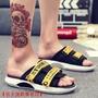 【恬宇運動專營店】Adidas Shoes off-white聯名休閑拖鞋 2019新款網紅室外休閑 夏季懶人外穿沙灘潮
