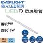 億光 LED  T8 燈管 兩呎10W 四呎20W 東亞照明 支架燈 輕鋼架