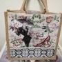 短提把 麻布袋[lisalisaart]精品 客製品 蝶古巴特 手工藝品 拼貼  手作教室 彩繪