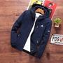 【現貨拍賣】新款Adidas阿迪達斯男夾克防曬韓版棒球外套 MA1 飛行外套 情侶裝防風外套 男外套 男生風衣 教練外套