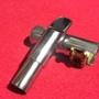 (1999)二手台製中音薩克斯風金屬吹嘴 鐵吹嘴 6號7號左右 半價出售 送金屬束圈+金屬蓋 銀色