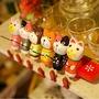 日式和風小貓釣魚動物木雕 彩繪釣魚貓六件套擺件TP119