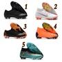 耐吉 耐克鞋五人制足球鞋長釘足球鞋 Nike CR7耐克刺客12代C羅專屬針織FG釘足球鞋 兒童足球鞋