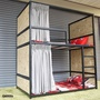 雙層床單人床架組 3尺【空間特工】 38mm鐵管  宿舍設計款床架 上下舖 床組 床底 封板款 S5A718