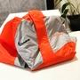 [偉兒鋼VESPA]VESPA 兩件式 雨衣 雙色 灰橘 經典 配色