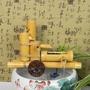 竹子流水過濾器擺件 魚缸石槽造景 水輪水車加濕器 魚缸流水