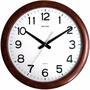 RHYTHM 麗聲鐘(CMG919) 實木木紋圓形掛鐘/41cm