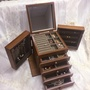【BonBon naturel】木質首飾珠寶盒-附鏡(珠寶盒)