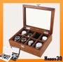 送禮自用木質實木高級絨布戴鎖收藏展示首飾手錶盒-白/棕/黑【AAA1061】