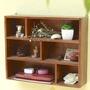 zakka 生活雜貨 展示盒 飾品收納 深木色 咖啡色 原木 6格收納櫃 六格木櫃 置物櫃 原木 OLA01C1