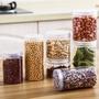 塑料食品糧食密封儲物罐廚房帶蓋雜糧收納盒儲存奶粉瓶子透明罐子