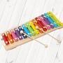 【美佳音樂】奧福打擊樂器/兒童樂器 彩色鐵琴15音(附棒)