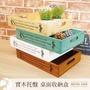 收納盒 原木質實木製英文字置物籃 桌面上雜物擺飾儲物展示盒 鄉村食物點心餐盤茶具擺設托盤