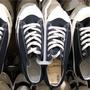 MUJI無印良品 27cm撥水加工有機棉舒適休閒鞋 深藍 #無印 休閒鞋