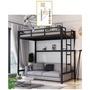 【學生宿舍公寓高低床】床高低床加厚 加密 護欄 成人高架 床鐵床組合床員工床學生宿舍公寓床高低床(7700元)