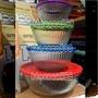 [華美小舖Costco代購] 美國進口 Pyrex 百年紀念款含蓋調理碗 (大碗口玻璃碗便於攪拌食物) 8件組 壹組價