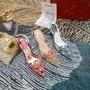 Rene Caovilla宮廷風水鑽扣高跟包頭涼鞋